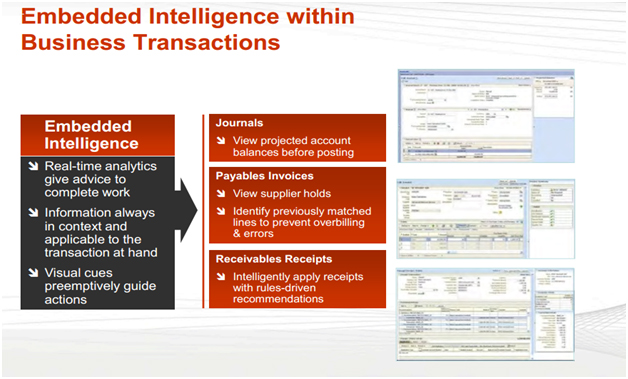 Comparison of Fusion Financials AP/AR modules with Oracle